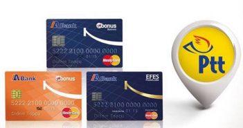 ABank Kredi Kartı ödemeleri Artık PTT'lerde Ücretsiz