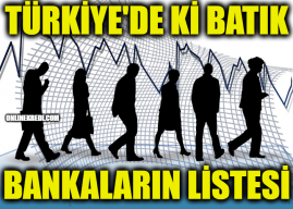 Türkiye'de ki Batık Bankaların Listesi