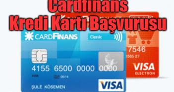 Cardfinans Kredi Kartı Başvurusu